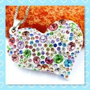 Betsey Johnson Colorful Love Pendant Necklace